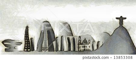 Rio de Janeiro skyline 13853308