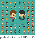 Set of 50 winter collection character 13853635