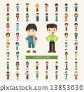 Set of 50 winter collection character 13853636