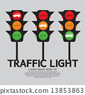 Traffic light. 13853863