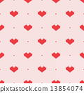 Seamless knitted pattern with hearts. Vector illustration 13854074