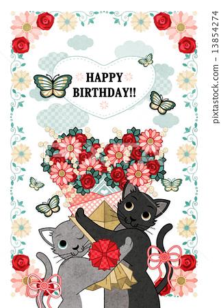 生日快乐!!(猫与心花束) 13854274