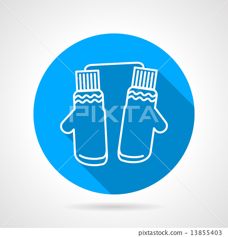 Mittens pair flat vector icon 13855403