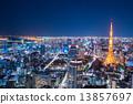 มุมมองกลางคืนของโตเกียว / พื้นที่สำนักงาน 13857697