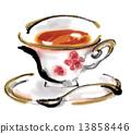 茶 红茶 手绘 13858446