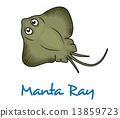 Cartoon manta ray 13859723