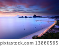 Sunrise view of Ao Manao bay in Thailand 13860595