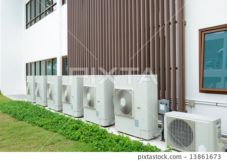 Stock Photo: Compressor of air condition