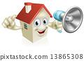 House Holding Megaphone 13865308