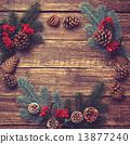 branch, pine, wooden 13877240