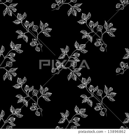 floral background seamless 13896862