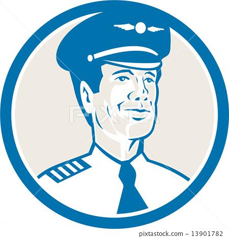 Flight Engineer Navigator Circle Retro 13901782