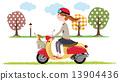 여자, 여성, 오토바이 13904436