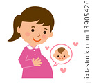 maternity, pregnant, woman 13905426