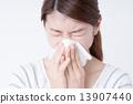 寒冷 感冒 女性 13907440