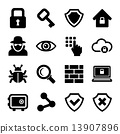 icons, set, security 13907896