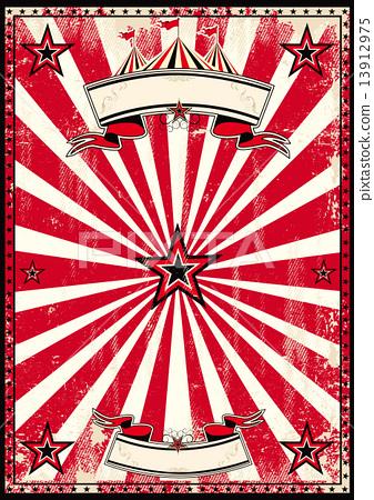 Red circus retro poster 13912975