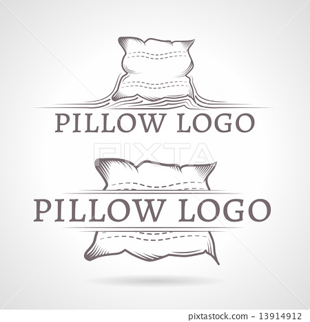 Abstract vector illustration of pillow icon with text 13914912