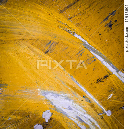 Yellow paint scratched 13918603