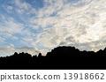 over, sunrise, mountain 13918662