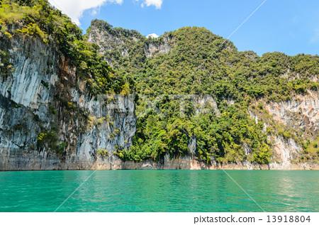 Lush high limestone mountains. 13918804