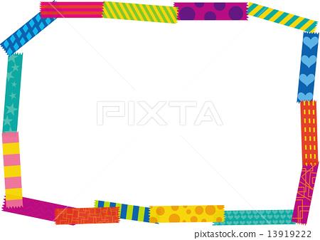 多彩膠帶框架 13919222