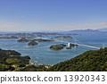 shimanami航線 海洋 島的 13920343