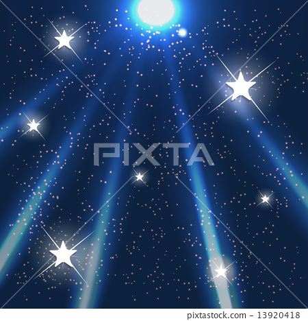 Space. Blue Starry Sky. Vector Illustration. 13920418