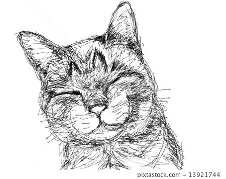 貓的插圖筆風格 13921744