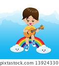 boy, playing, rainbow 13924330