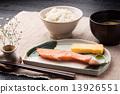 烤三文魚 早餐 米 13926551