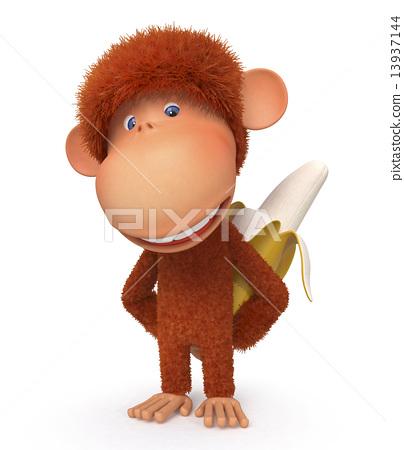 The monkey with banana 13937144