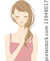 做頭髮護理的女性 13948017
