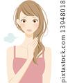 護髮女性的睡眠習慣 13948018
