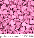 Pile of love hearts. Valentine's day background 13953964
