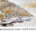 Sketch of fishing port of Notago no Sato Noto 13955403