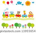 어린이용, 동물, 컬러풀 13955654