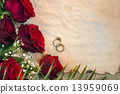 Red Roses - Wedding Day - Space for Text 13959069
