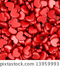 Pile of love hearts. Valentine's day background 13959993