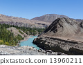 Himalayan landscape in Himalayas. Ladakh, India 13960211