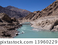 Himalayan landscape in Himalayas. Ladakh, India 13960229
