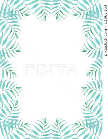 Palm leaves Palm coconut green leaf blue tropical tropical hot Hawaii Okinawa Bali Bali Resort resort Wind refreshing natural sky travel summer holiday summer vacation tropical palm background frame frame wallpaper 13962103