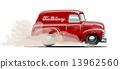 van, retro, car 13962560