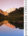 Maroon Bells - sunrise in the mountains 13969143