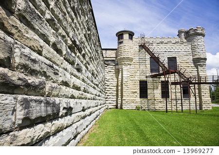 Walls of historic Jail in Joliet 13969277