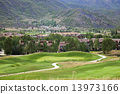 Golf Course in the mountains 13973166