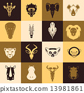 African animals icons 13981861