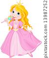 Princess licks lollipop 13987252
