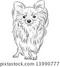 繪畫 畫畫 狗 13990777