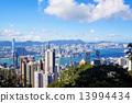 hong kong city day 13994434